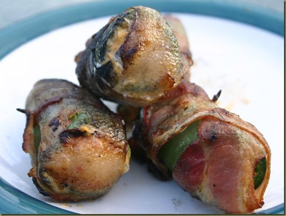 Crawfish Stuffed Jalapeno Poppers-- an awesome way to help use up leftover crawfish after a boil!