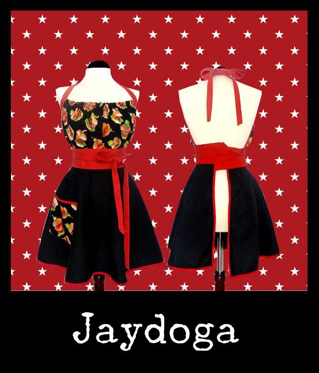 Delantales Vintage Jaydoga, elegantes, divertidos y originales! Delantal vintage Burguer Apron!