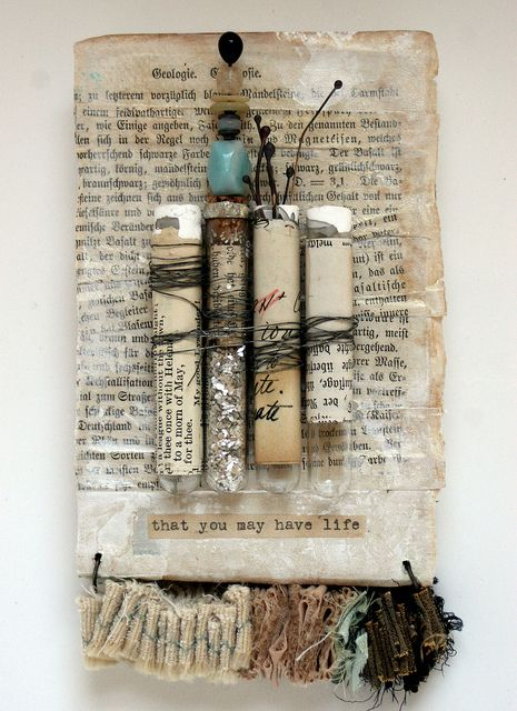test tubes - collage art by Rebecca Sower http://www.flickr.com/photos/rebeccasower/sets/72157600217345647/ http://www.rebeccasower.typepad.com/ #art #mixed_media