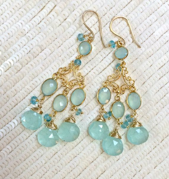 Pinterest The worlds catalog of ideas – Aqua Chandelier Earrings