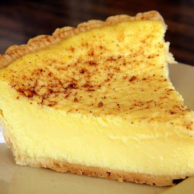 Old Fashioned Custard Pie @keyingredient #pie