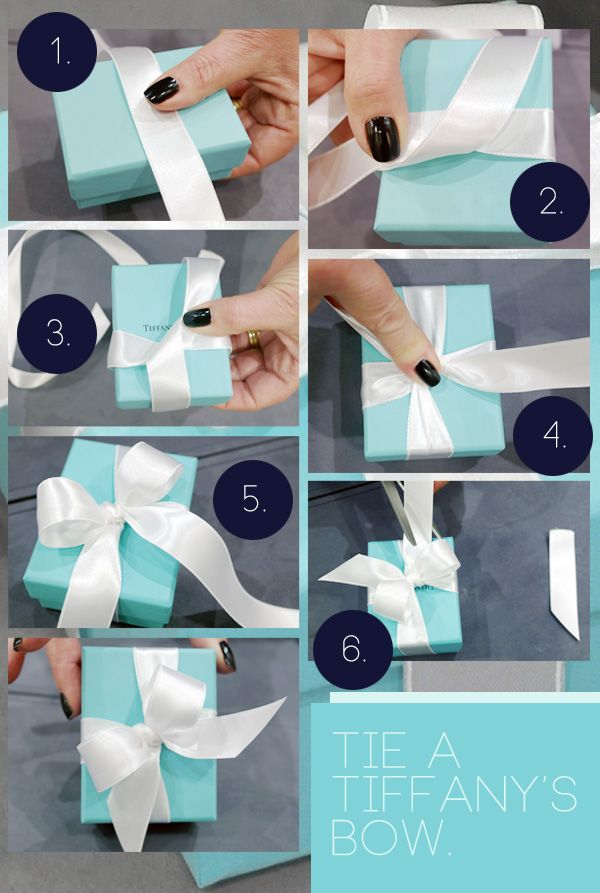 """how to tie a Tiffany bow"" tutorial"