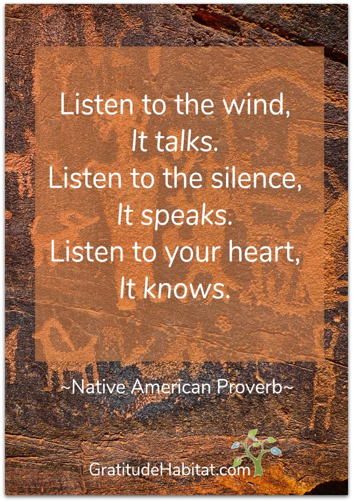 Listen...your heart knows. Visit us at: www.GratitudeHabitat.com