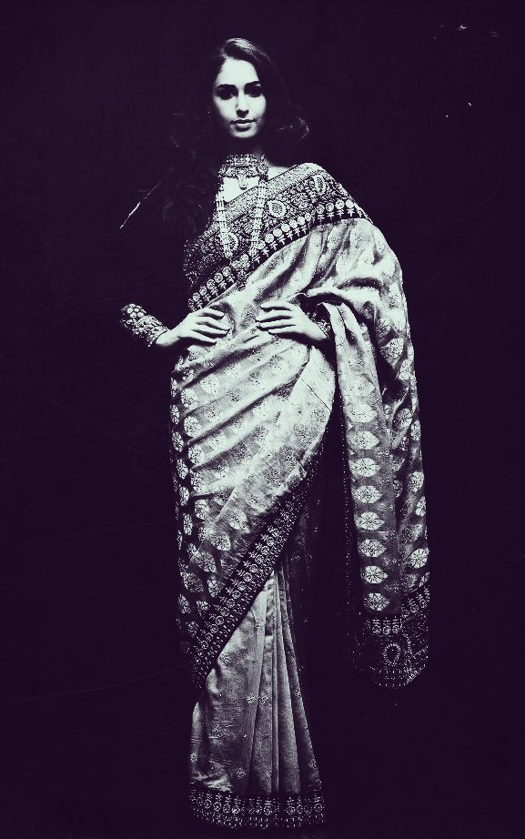 ritu kumar chanderi sari