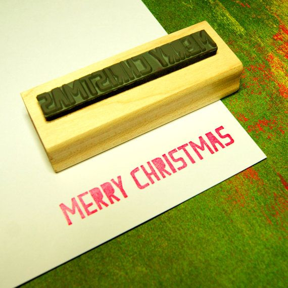 Merry Christmas Rubber Stamp by Skull and Cross Buns