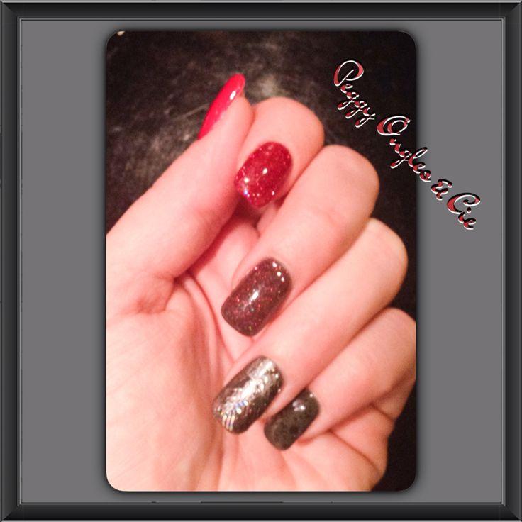 Ongles gel uv d grad de teinte de rouge gris peggy ongles cie pinterest - Ongle gel gris ...