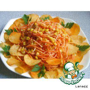 Салат «Маргаритка» с чипсами