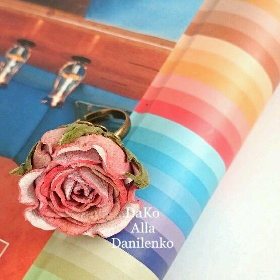 Кольцо с розой из натуральной кожи - Алла Даниленко DaKo - Ярмарка Мастеров http://www.livemaster.ru/item/18714211-ukrasheniya-koltso-s-rozoj-iz-naturalnoj-kozhi