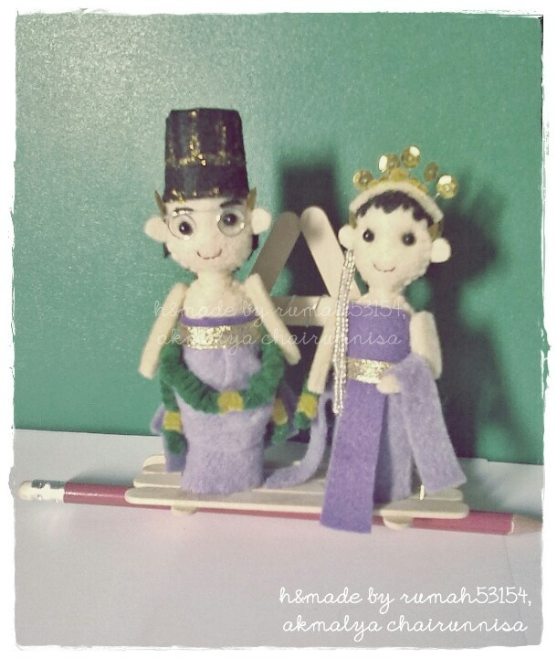 Wedding dollie wear traditional clothes from Java, Indonesia