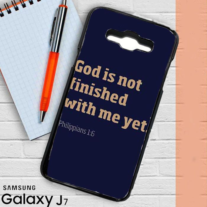 Bible Verse not finished yet Samsung Galaxy J3 Case Casestrange