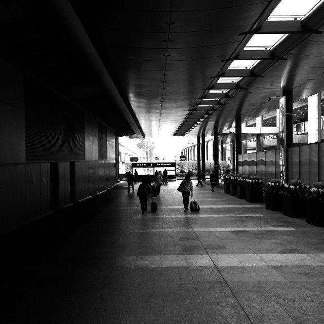airport exit.  first look at hong kong.