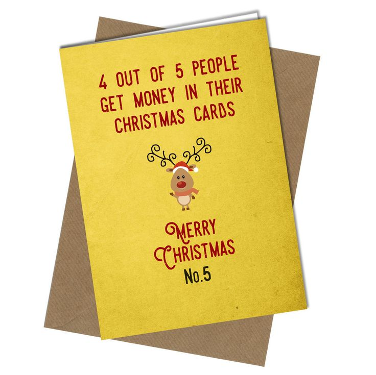 #408 CHRISTMAS CARD Rude Greeting Card funny humour joke 4 out of 5 Xmas Card
