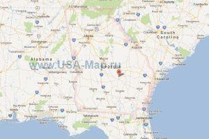 Подробная карта Джорджии