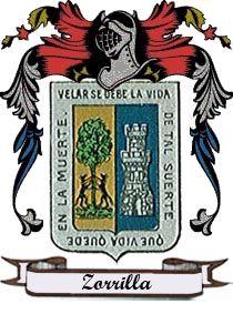 Castresana de Losa - El Apellido Zorrilla: escudo y significado