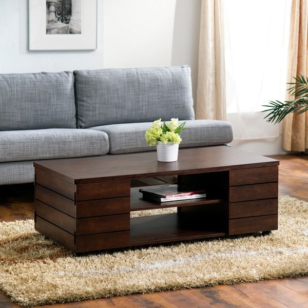 Pollins Rustic Vintage Walnut Coffee Table By Foa The