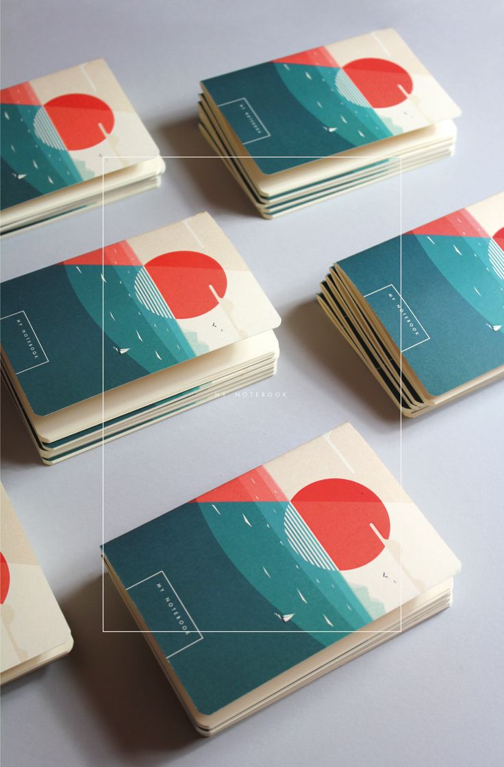 An illustrated notebook for winter holiday gift.