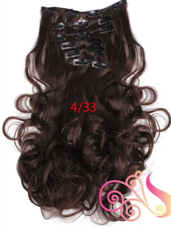 7pcs/set Clip In Hair Extension Curly Synthetic Wavy Hair Extensions - Stylish n Trendier - 10