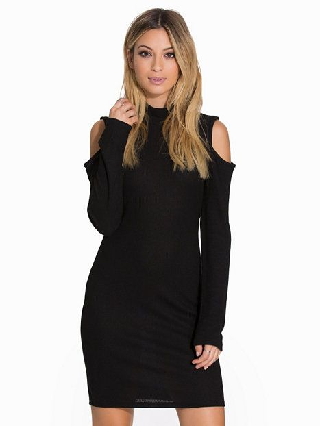 Vmtoppi L/S Cold Shoulder Short Dre - Vero Moda - Black - Party Dresses - Clothing - Women - Nelly.com