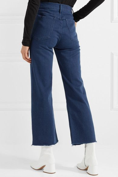 0d8c7d9dcb5e93 3x1 - W4 Shelter Cropped Frayed High-rise Straight-leg Jeans - Mid denim