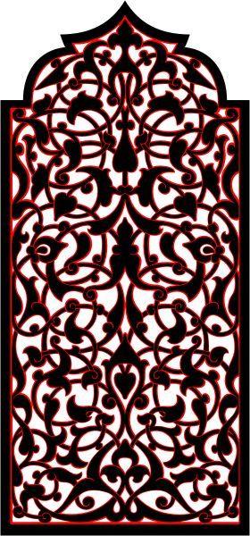 Узоры : Арабский орнамент (Векторная графика)