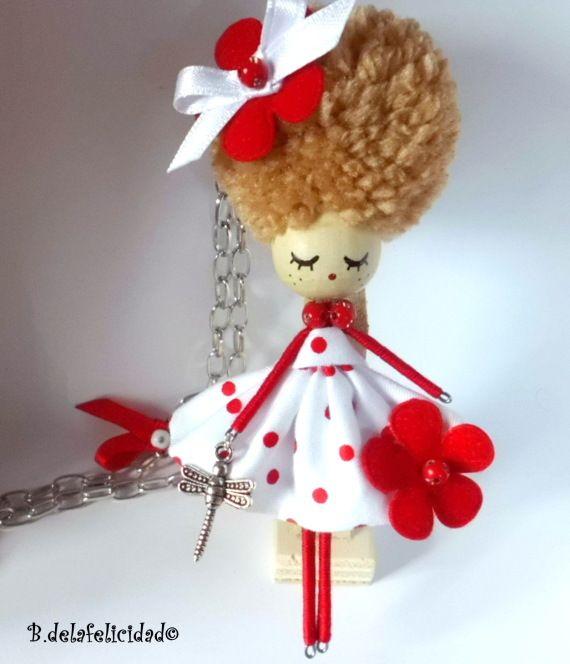 Broche-collar de muñeca / Broches de la Felicidad - Artesanio