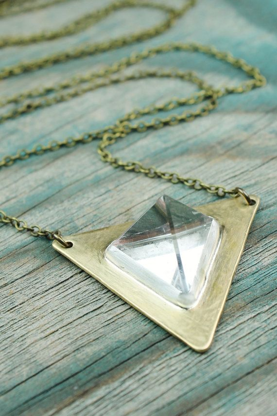 Quartz Crystal Tetrahedron Necklace
