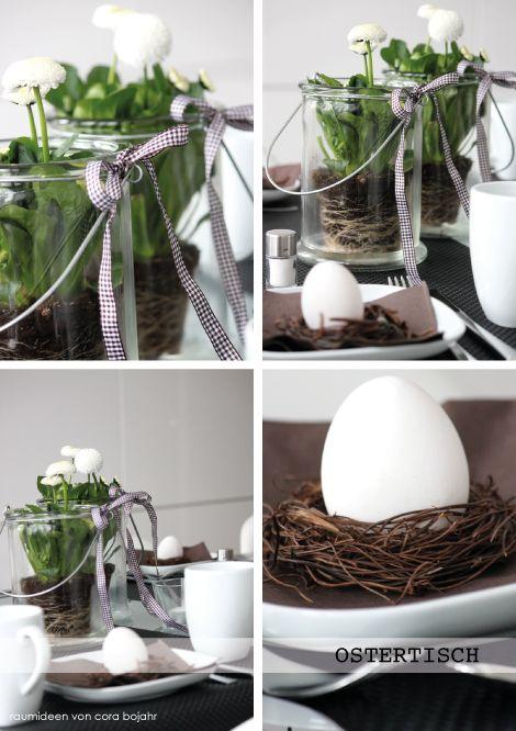 Tischdekoration zu Ostern