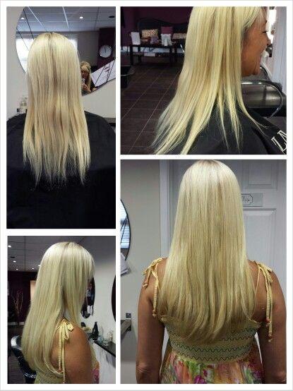 Beautiful blonde Balmain Hair Extensions.
