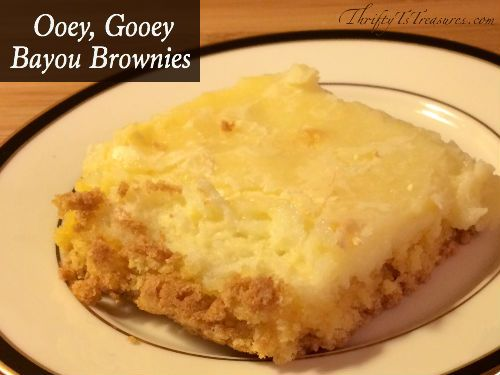 These Ooey, Gooey Bayou Brownies are super simple to make, and only have 5 ingredients. Come check out the recipe!