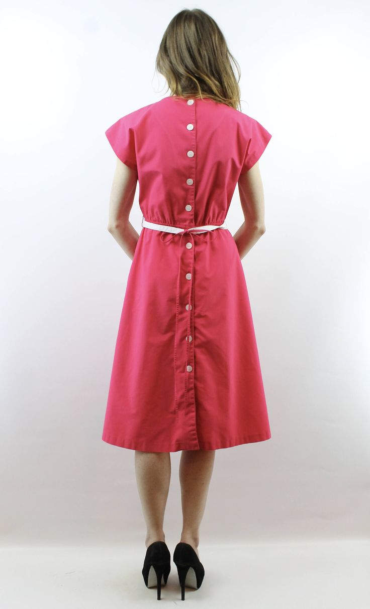 Basket Weave Dress Pink Dress 1980s Dress 80s Dress Secretary