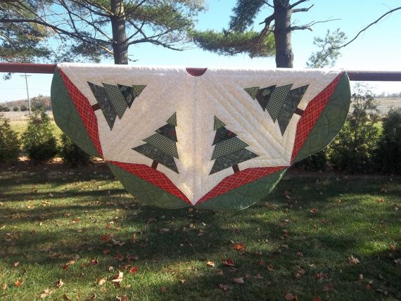 Quilted Handmade Christmas Tree Skirt 42 By Krissyde On Etsy