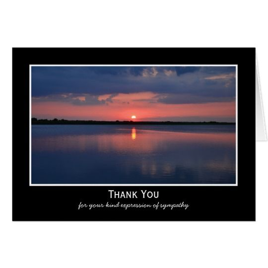 Sympathy Thank You Note Card -- Gorgeous Sunset