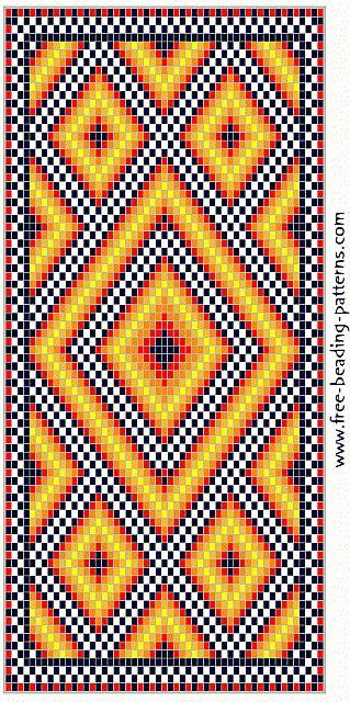 free-beading-pattern-wallet-golden-diamonds
