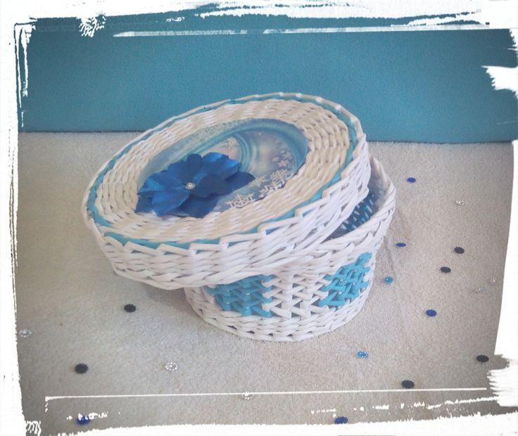Kék-fehér díszdoboz