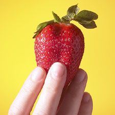 mix crushed strawberries with baking soda to create a natural home tooth whitening system