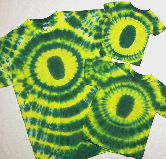Tie Dye Shirts Oregon Ducks TShirts Adult sizes by tiedyedmonkeys, $24.99