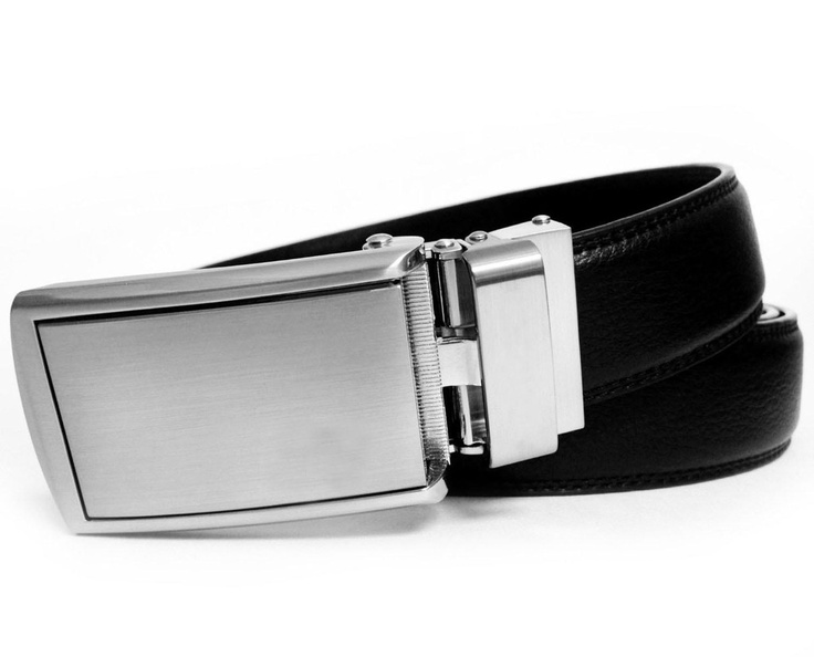 Low-Profile SlideBelt 2013 Silver Buckle with Leather