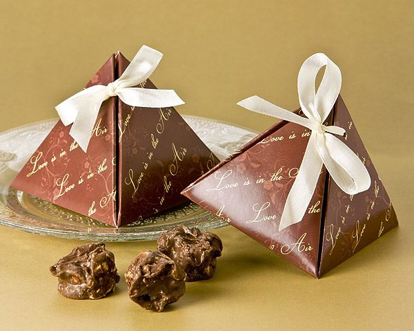 Chocolate Colored Favor Boxes Perfect For Filling With Your Favorite Treat Giving From One Classic Wedding