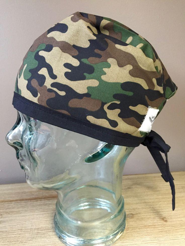 Custom Caps Company Army Green Camo Scrub Cap,  Mens Surgical Scrub Hat, Tie Back Scrub Caps by CustomCapsCompany on Etsy