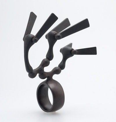 Kenta Katakura African Black Wood Ring.  Currently (at time of posting) in the Velvet Da Vinci Wood Exhibition.