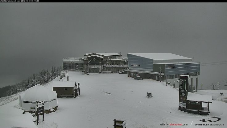 Early AM webcam shot of Whistler Mountain on October 30, 2015! Keep those snowy thoughts coming! Winter is coming! Check out WB webcam here --> http://www.whistlerblackcomb.com/mountain-info/snow-report#mountain-cams