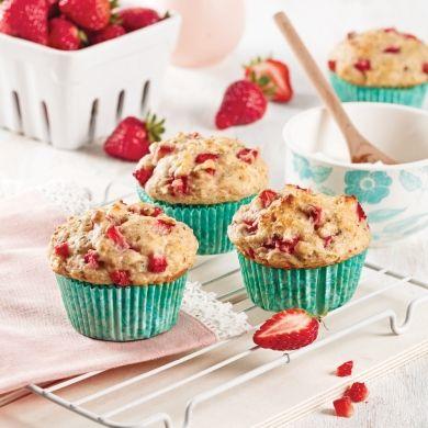 Muffins aux fraises - Recettes - Cuisine et nutrition - Pratico Pratique