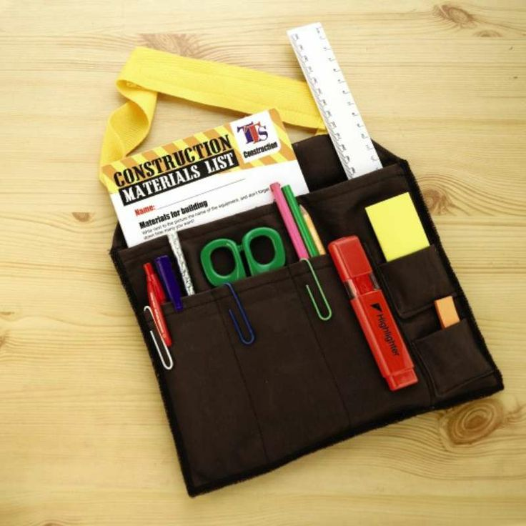 Mark making tool belts are great for encouraging writing on the go!