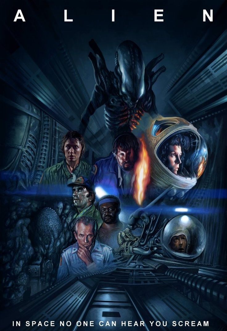 Alien the 8° passeger. Animated movie poster