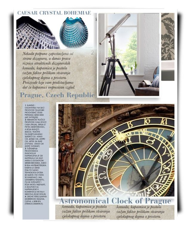 Astronomical Clock of Prague by betiboop8 on Polyvore featuring interior, interiors, interior design, home, home decor, interior decorating and Eichholtz