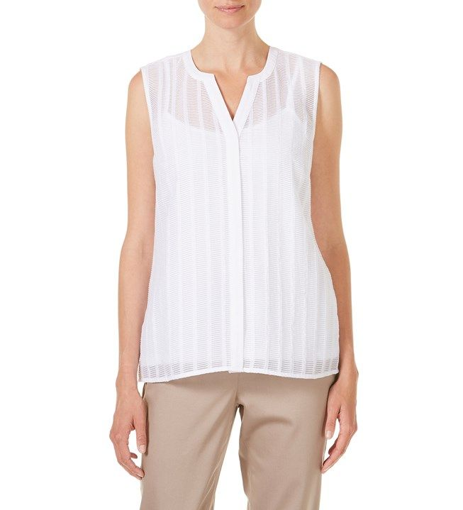 W.Lane Sleeveless Textured Blouse