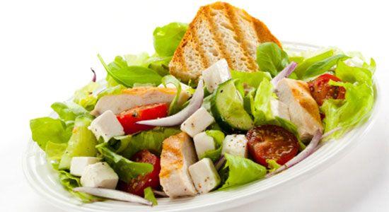 Healthy Dinner Recipes: Healthy Chicken Salad. #HealthyRecipes #DietRecipes #WeightlossRecipes weightloss.com.au