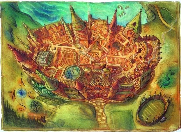 Hogwarts Castle - U.S. edition Harry potter Illustrations by Mary GrandPré