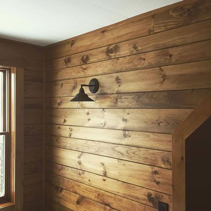 White_pine_shiplap_paneling_custom_stained_rustic · Shiplap PanelingInterior  Wood PanelingPaneling IdeasGarage ...
