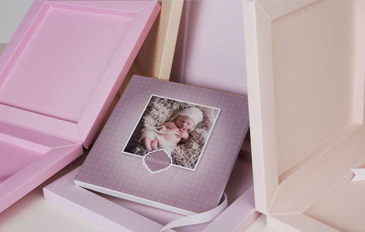 #BabyBook #Newborn example in #pink tones #graphistudio #book #ideas